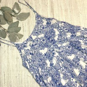 American Apparel blue floral dress D-012